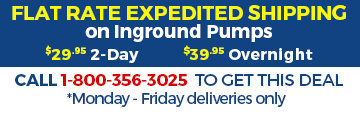 Flat rate shipping on all pumps
